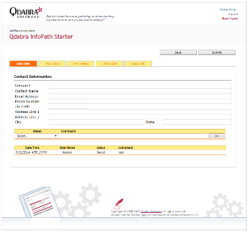Qdabra forms starter template for Free infopath templates